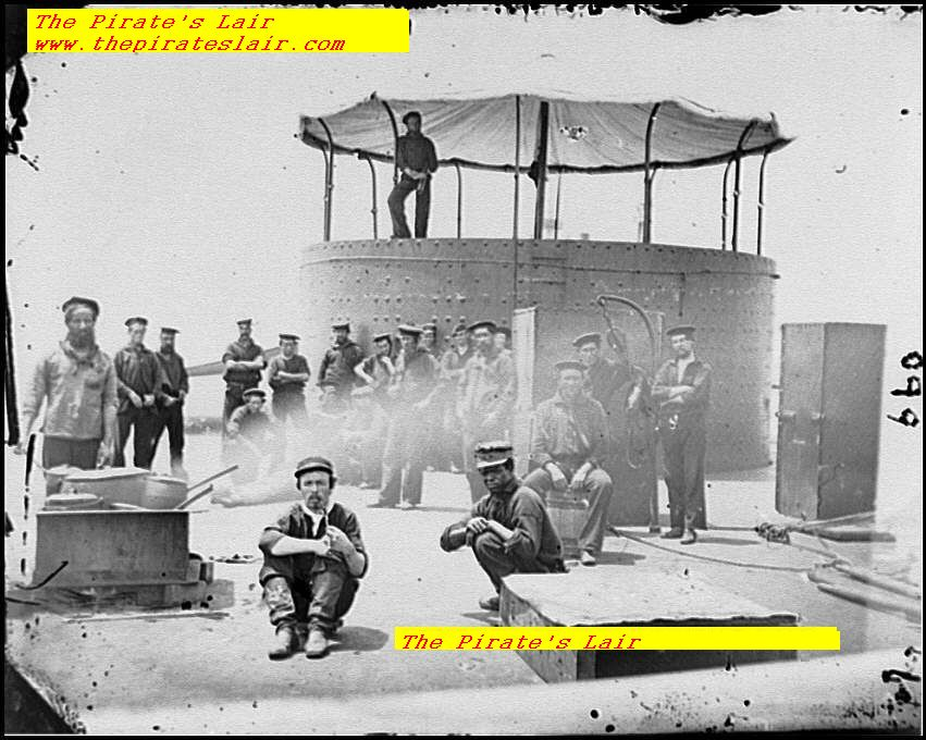 USS Monitor, Preparing Meals and Cooking on Deck - #002