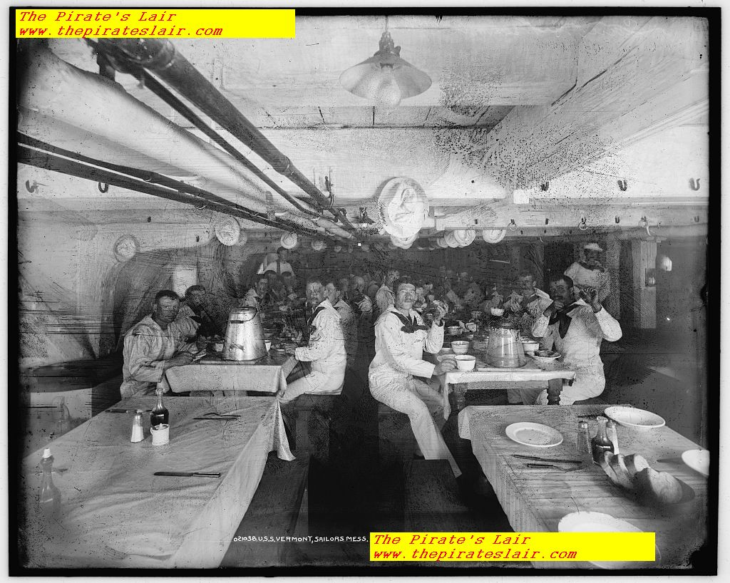 USS Vermont Ca 1890-1900 Crews Mess #004