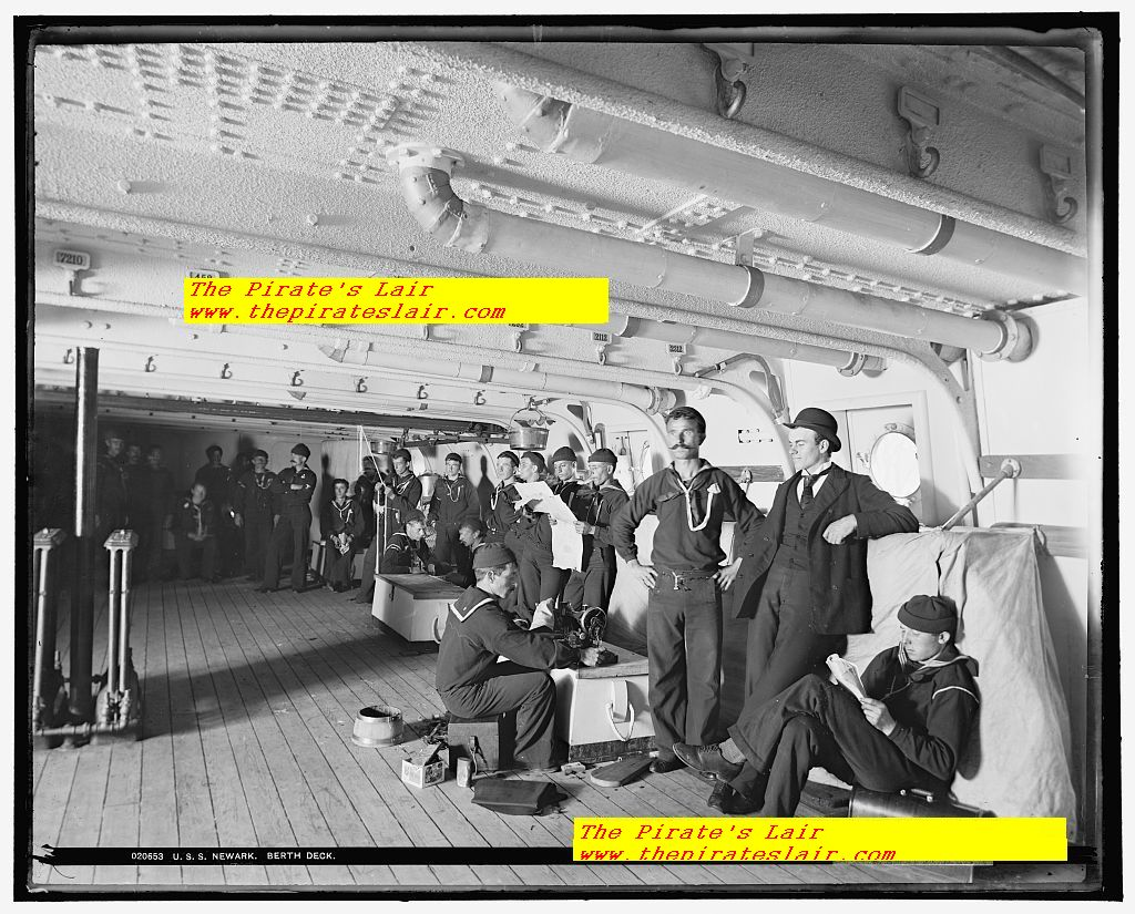 USS Newark Ca 1891-1901 Crews Berthing Area #006