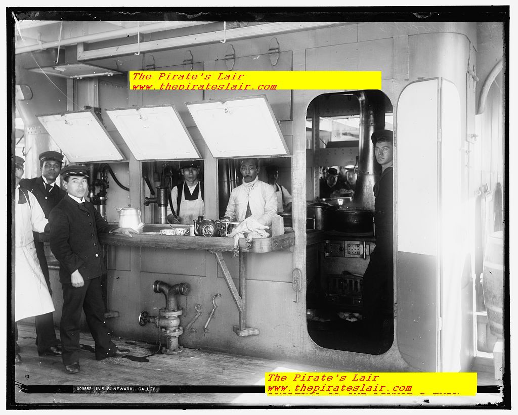 USS Newark Ca 1891-1901 Crews Galley #007