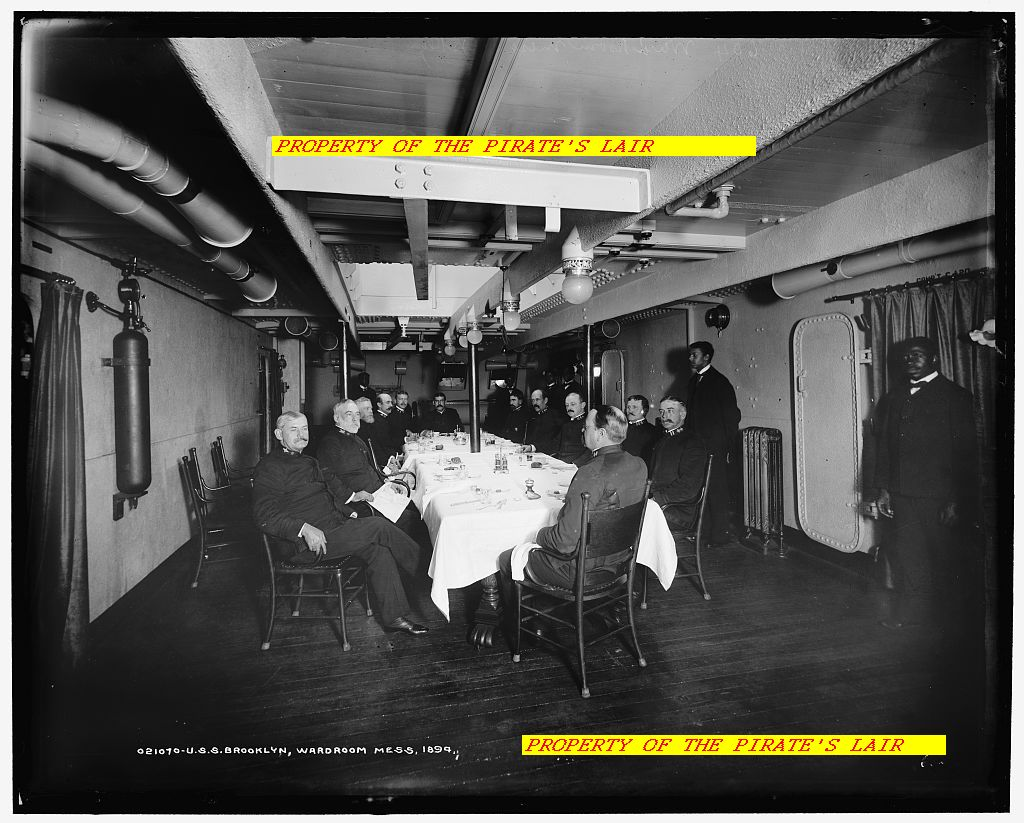 1894 USS Brooklyn Officers Wardroom - #014