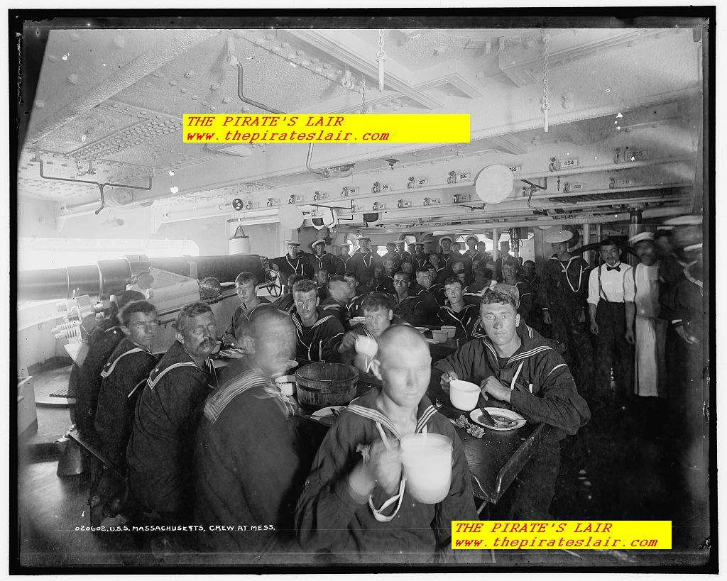 1896-1901 USS Massachusetts Crews Mess in Gun Room - #021