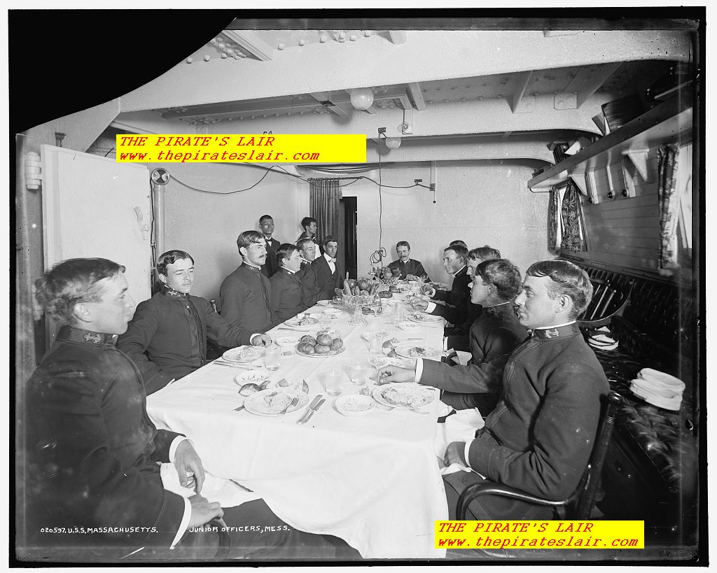 1896-1901 USS Massachusetts Junior Officers Mess - #022