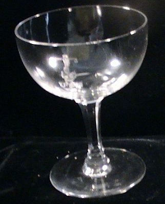 US Navy Cut Crystal Champagne Glass usn monogram