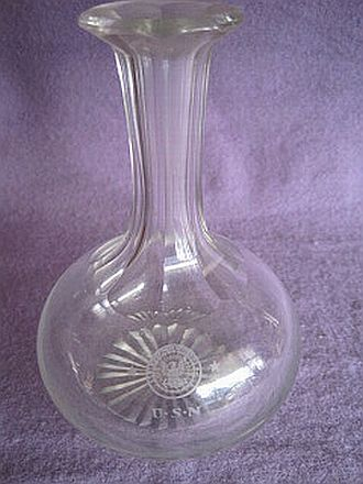 Crystal Decanter department of navy Great White Fleet and WWI Era