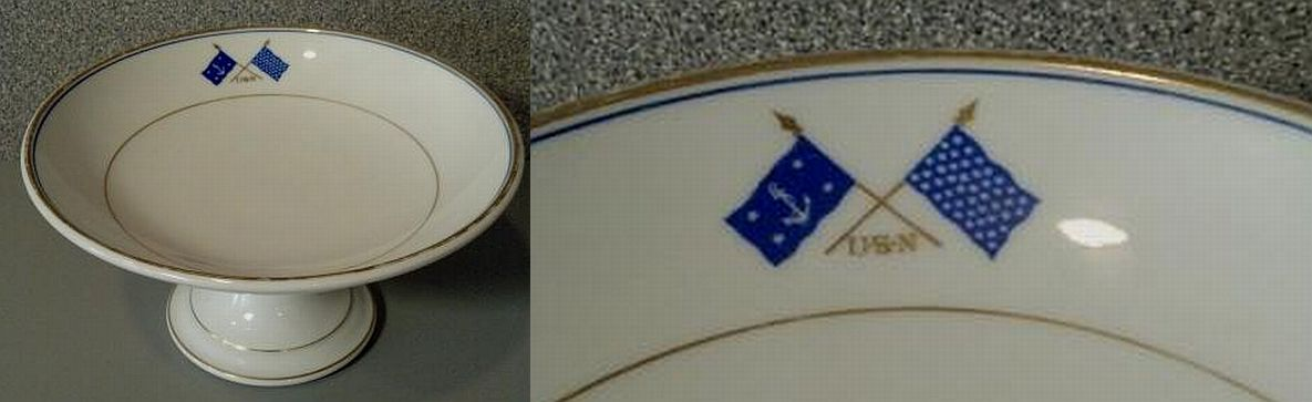 US Navy Secretary of the Navy Serving Fruit or Pastry Bowl ca 1899-1907