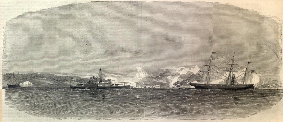 aquia landing, aquia creek union gun boat confederate artillery battle may june 1861