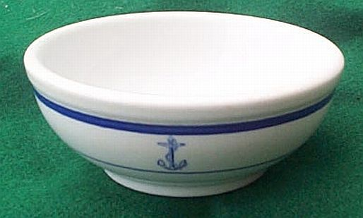 us navy deep medium navy serving bowl, anchor