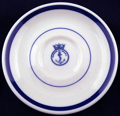 brazilian navy saucer officer's wardroom china