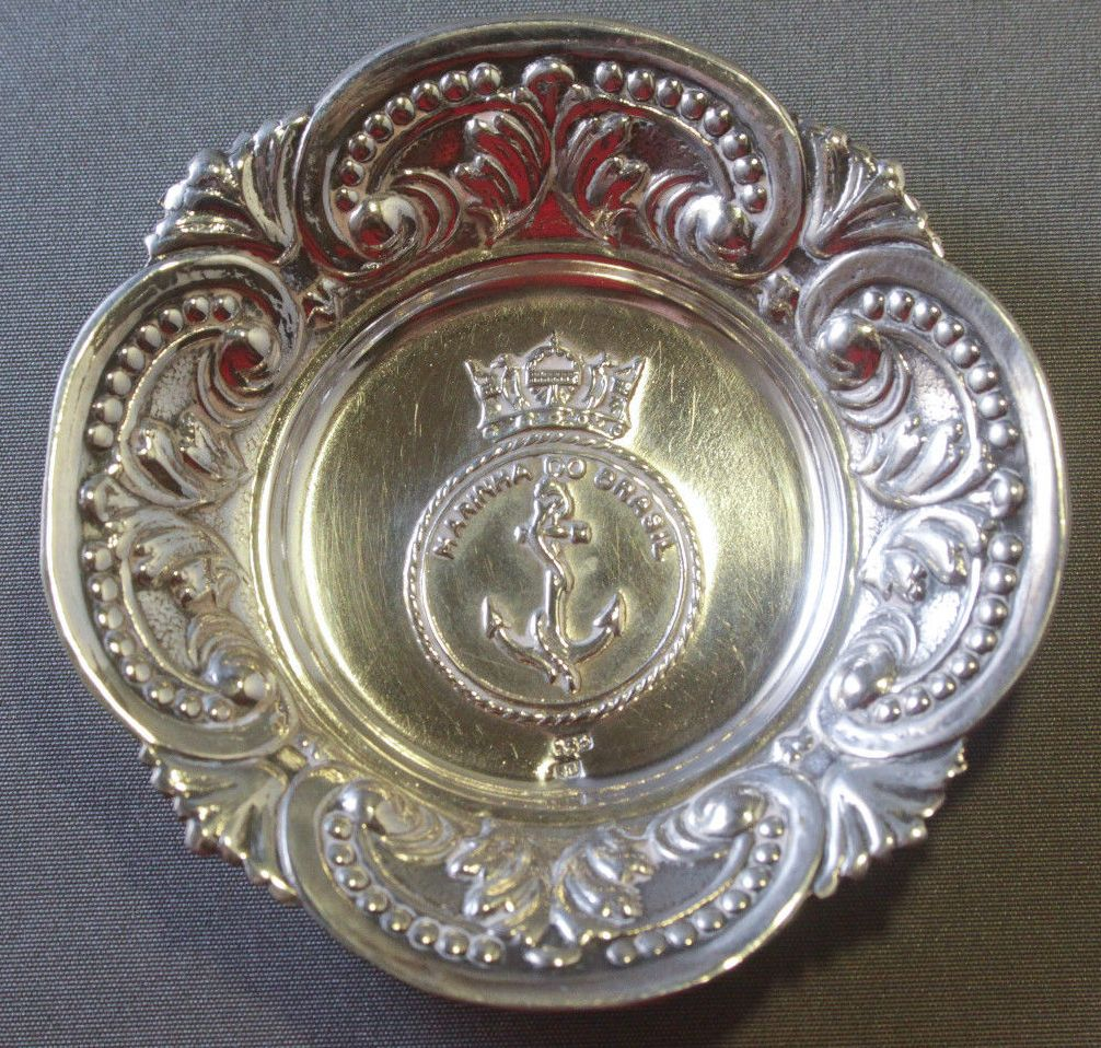 brazilian navy officer's wardroom after dinner bon bon candy dish