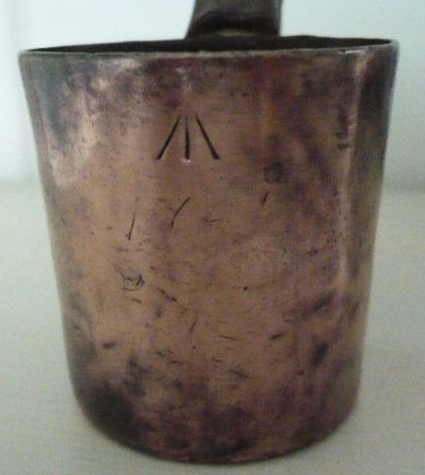 royal navy 1/2 gill copper measure for rum and grog