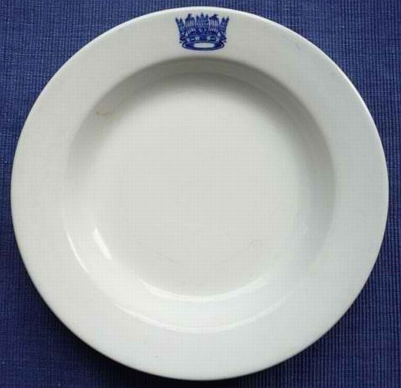 post-1907 Keelings and Co Ltd 1916 Admiralty Dinner Plate Blue Insignia