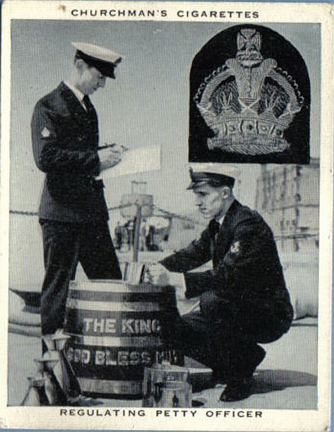 british royal navy dispensing the grog note all copper pitchers
