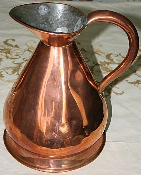 british royal navy all copper pitcher
