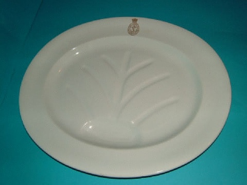 large royal navy meat platter with officer's gold anchor insiginia