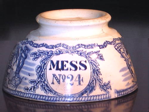 british royal navy mess bowl stacked position upside down