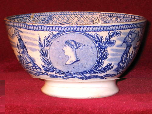 british royal navy mess bowl showing queen victoria
