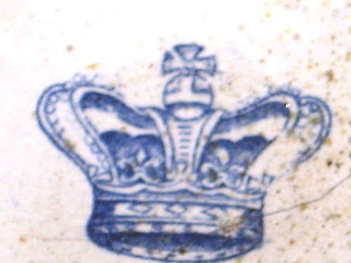 british royal navy mess bowl showing victoria's crown
