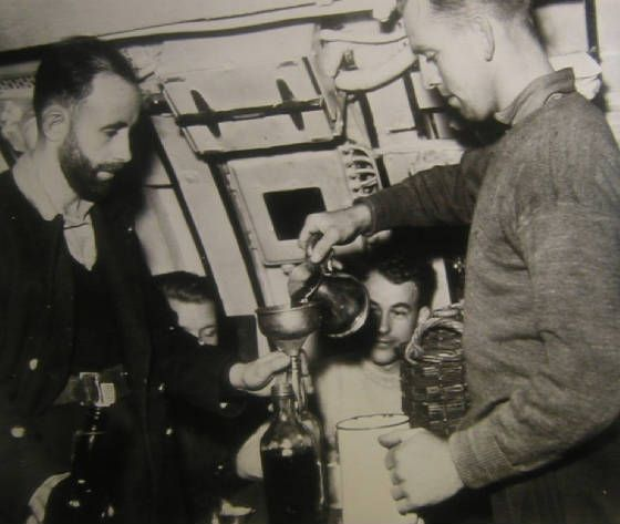 royal navy mixing the grog aboard ship
