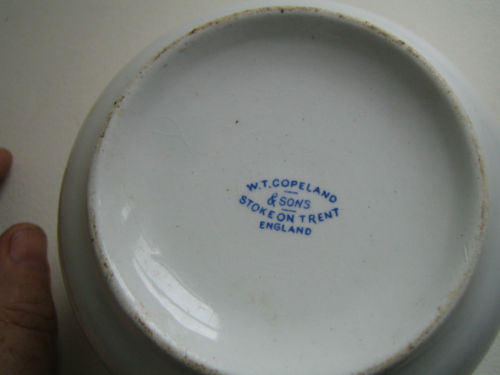 british navy mess bowl No 18 marked WT Copeland & Sons, Stoke On Trent, England