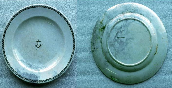 CSN China Plate in Green Rope and Anchor