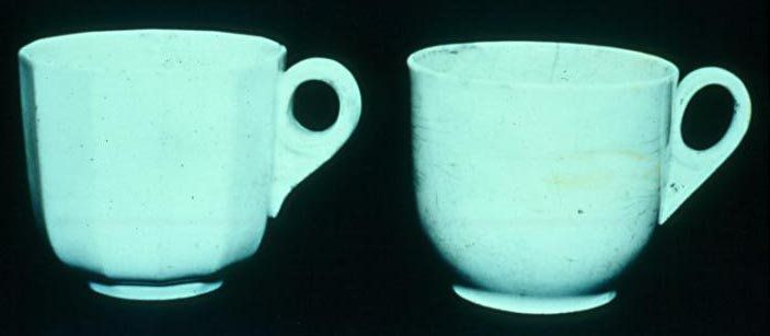 Confederate States Navy CSN China Plain Cups found on the CSS Alabama