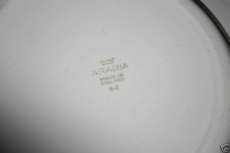 finnish navy dinner plate, marinem or merivoimat backstamp