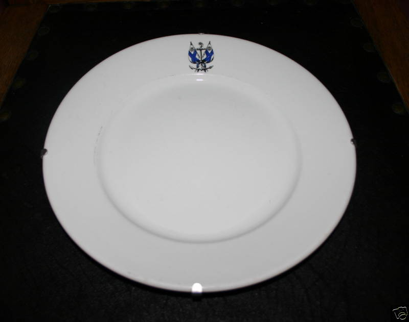 finnish navy dinner plate, marinem or merivoimat