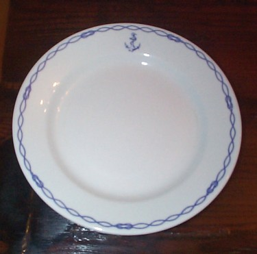french navy bowl officer's wardroom china