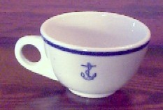us navy formal dinner coffee cup, anchor