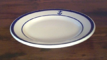 us navy bread and butter plate, anchor