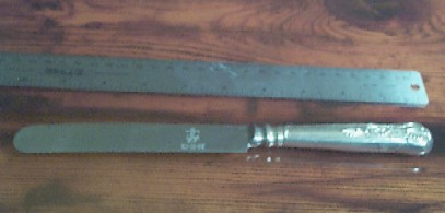 US Navy Silverware Kings Design Old Lunch Knife Anchor on Blade