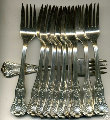 US Navy Silverware Kings Design Salad Fork