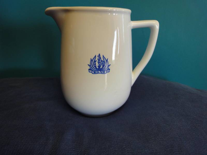 israeli navy officer's wardroom china milk or cream pitcher with anchor topmark