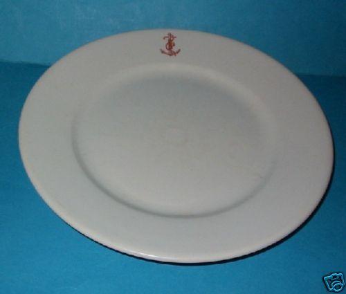 royal italian navy dinner plate officer's wardroom china