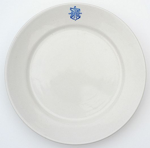 italian navy dinner plate officer's wardroom china ca 1946-1960