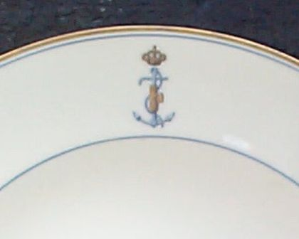italian navy dinner soup bowl officer's wardroom china dated 1939
