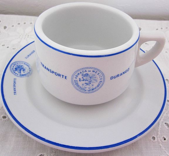 mexican navy cup and plate