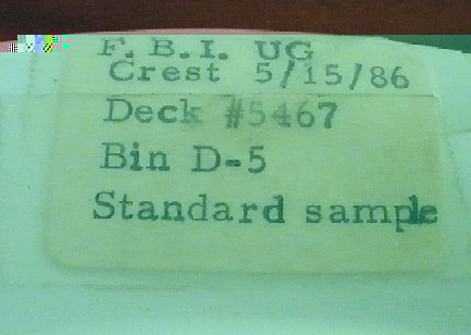 fbi dinner plate sample 5-15-86