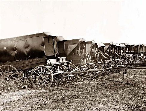 photo of union army civil war ambulance wagon - Rucker
