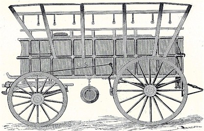union army civil war ambulance wagon - Tripler