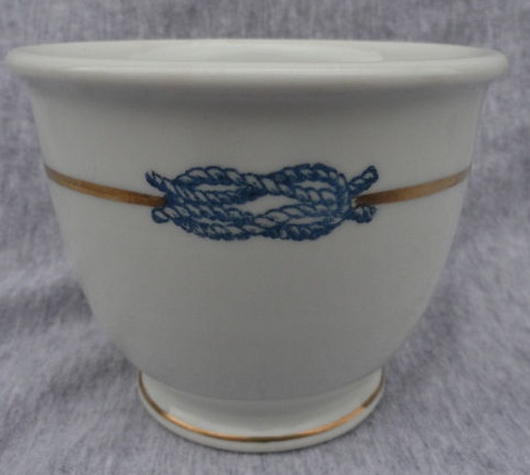 Odd and Unique US Navy Topmark Found on a Footed Egg Cup dated 1918 by Buffalo China