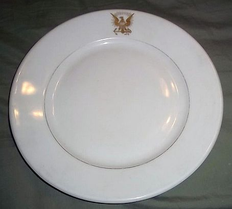 Navy Seal used on a Dinner Plate dated 1894