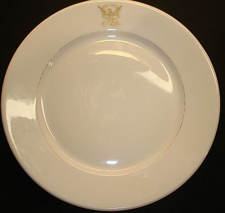 Navy Seal used on a Dinner Plate dated 1908