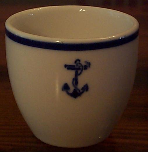 New Anchor Topmark on Demitasse Cup ca 1940 - 1960