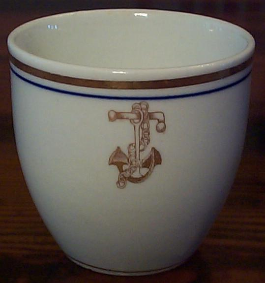 Old Anchor Topmark on Demitasse Cup ca 1900 - 1939