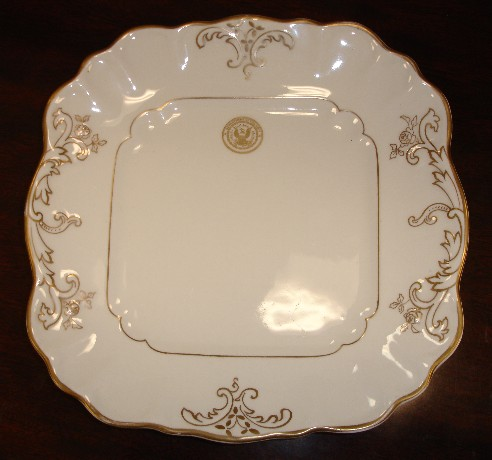 department of navy seal candy dish reception plate dated 1906