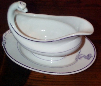 royal netherlands  Koninklijke Marine navy officer's gravy boat head side