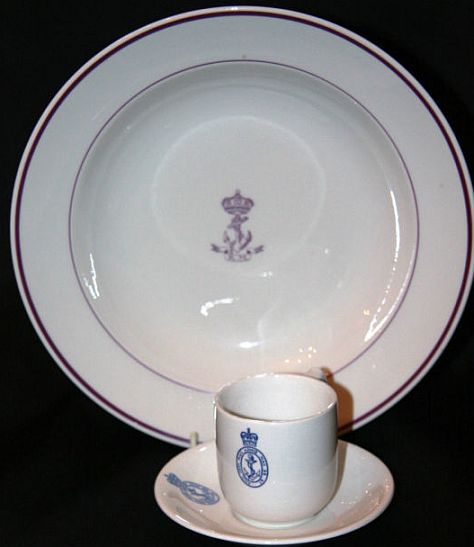 royal netherlands Koninklijke Marine navy officer's soup bowl