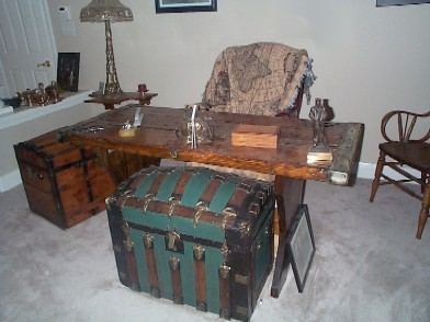 antique navy and nautical treasure chests